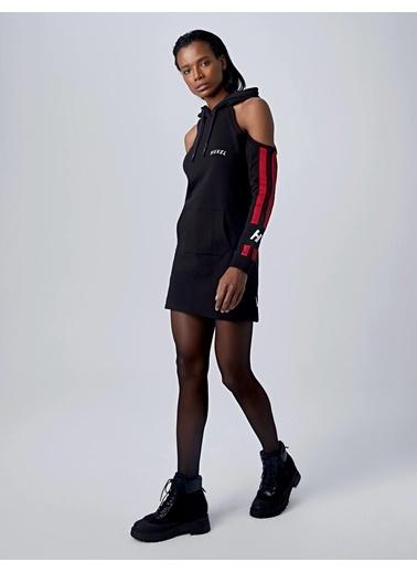 Huxel Elbise Siyah